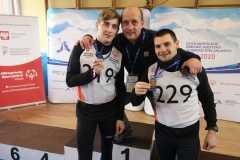 Andrzej i Konrad z trenerem Maciejem